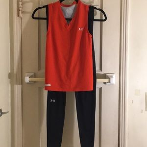 Under Armour tank & leggings size S